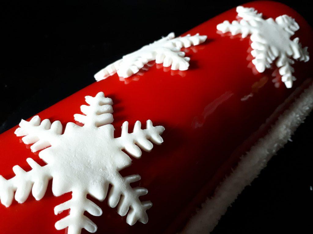 Bûche de Noël chocolat-framboise