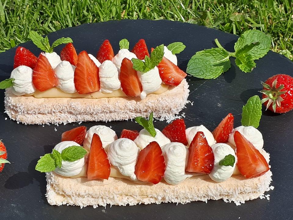 moelleux coco-fraise